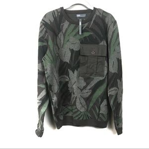 New with tags ASOS green camo leaf sweater m